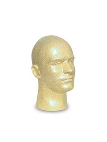 Mens Styro Mannikin Head, Bronze