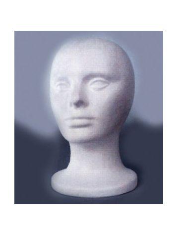 Plain Styro Head, White